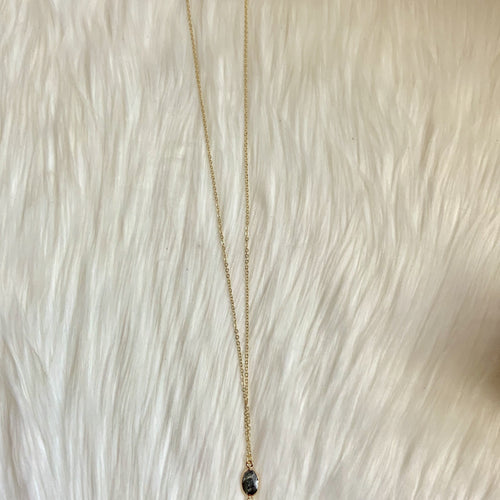 Gold teardrop necklace-TCB