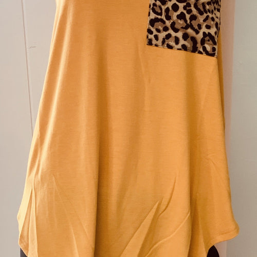 181-Sleeveless Leopard Print Pocket Tank-TCB