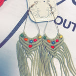 117 - Bohemian Tassel Braided Earrings-TCB