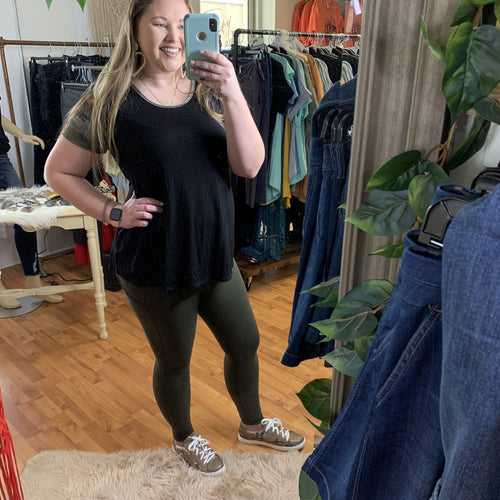 Tiffany Cagle Boutique-Olive Athletic Pants SM-3XL-TCB