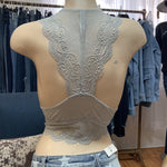705 - Light Grey Lace Bralette