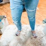 Judy Blue Light Wash Denim Distressed Boyfriend Jeans-TCB
