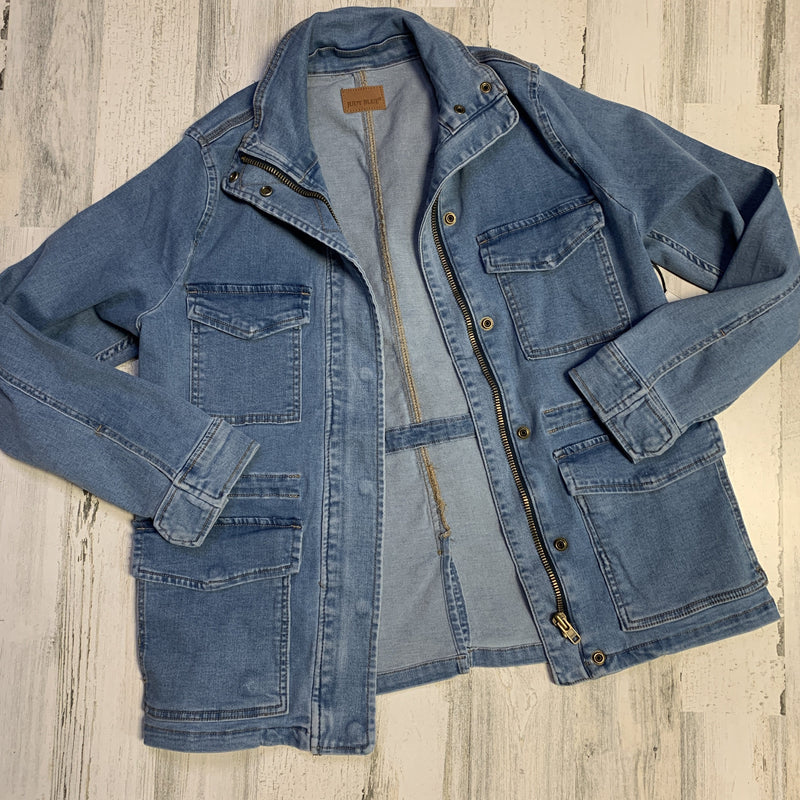 310 - Judy Blue Light Wash Denim Jacket-TCB