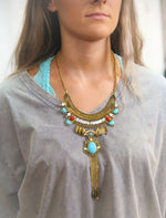 Red and Turquoise Stone Necklace