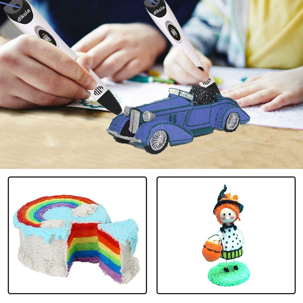 dikale 3D Pen for Kids with 18 Colors 180 feet PLA Filament Refills