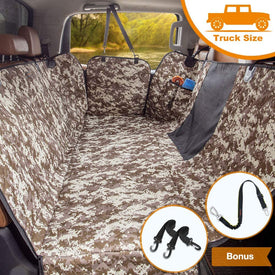iBuddy Waterproof Dog Seat Cover for Trucks with Mesh Window Perfect for F150, Ram 1500, Tundra and Large SUVs