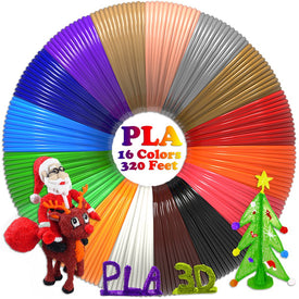 PLA 1.75mm 320 Feet In Total 16 Colors 3D Printer Filament
