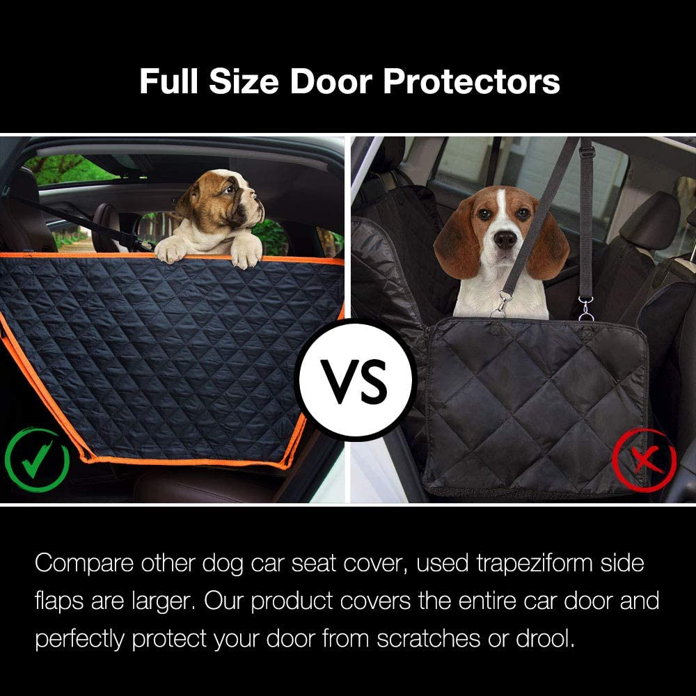 iBuudy Waterproof Dog Back Seat Cover With Side Flaps from Scratching For Car/SUV/Truck