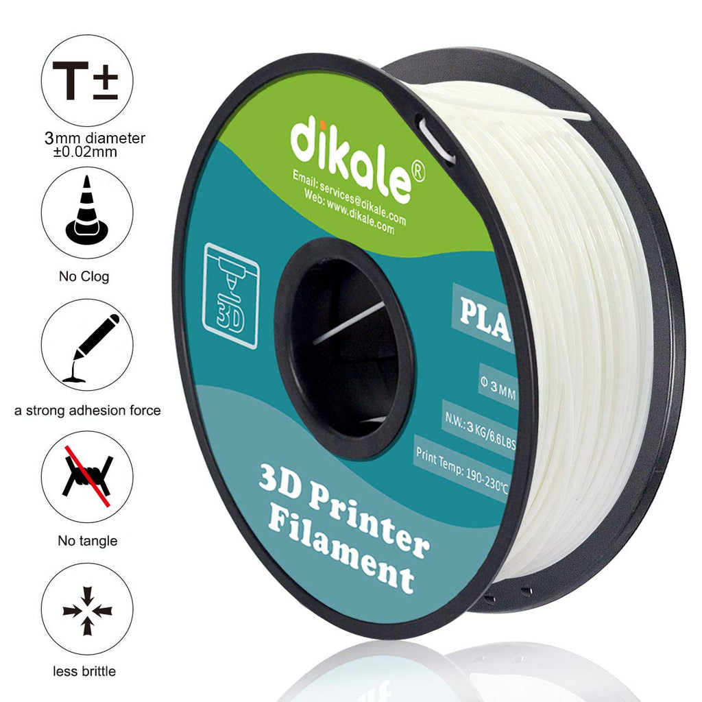 PLA 3D Filament For 3D Pen & Printer 1.75mm White 3 kg Spool