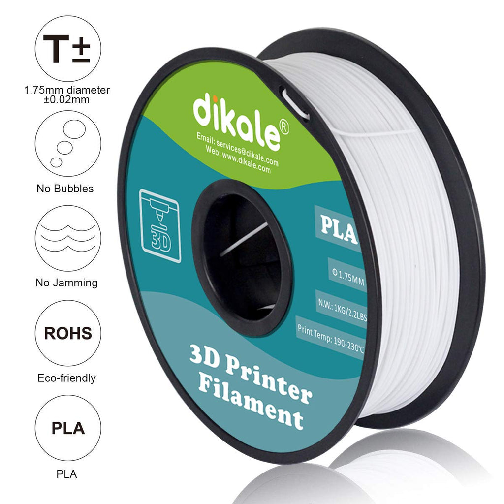 PLA 3D Filament For 3D Pen & Printer 1.75mm White 1 kg Spool