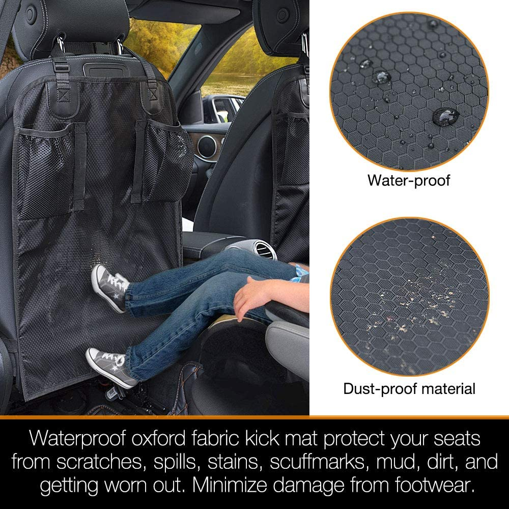 iBuddy Kick Mat Car Seat Protector Organizer without Smell