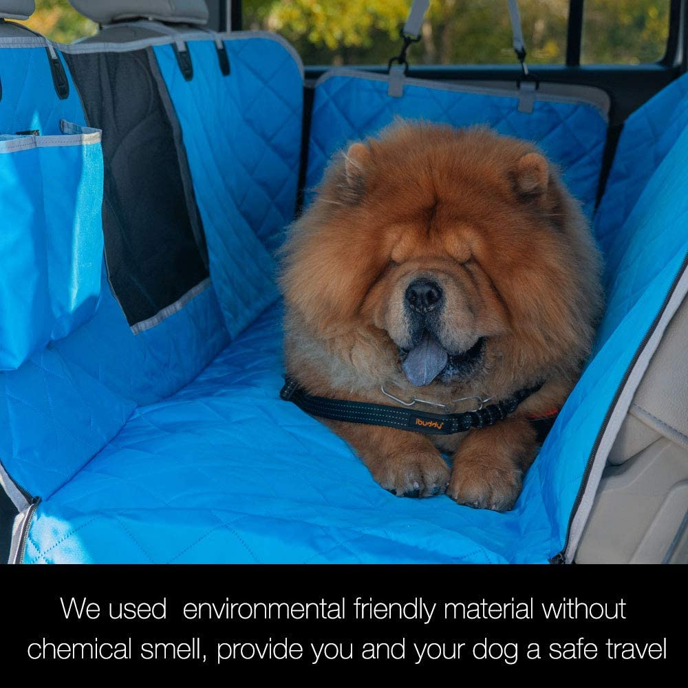 iBuddy 100% Waterproof Dog Seat Cover with Mesh Window for Cars, Small Trucks and SUVs