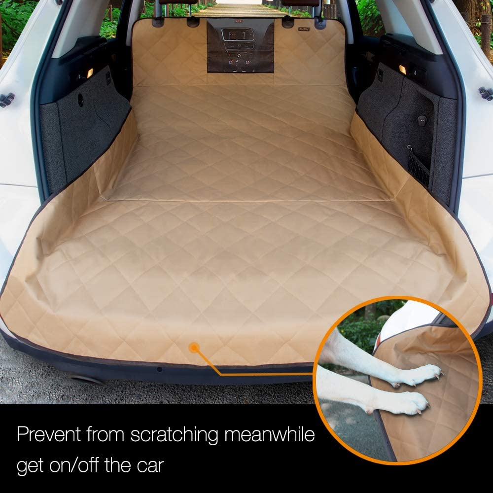 iBuddy SUV Cargo Liner for Dogs with Mesh Window for Small/Medium/Large SUVs