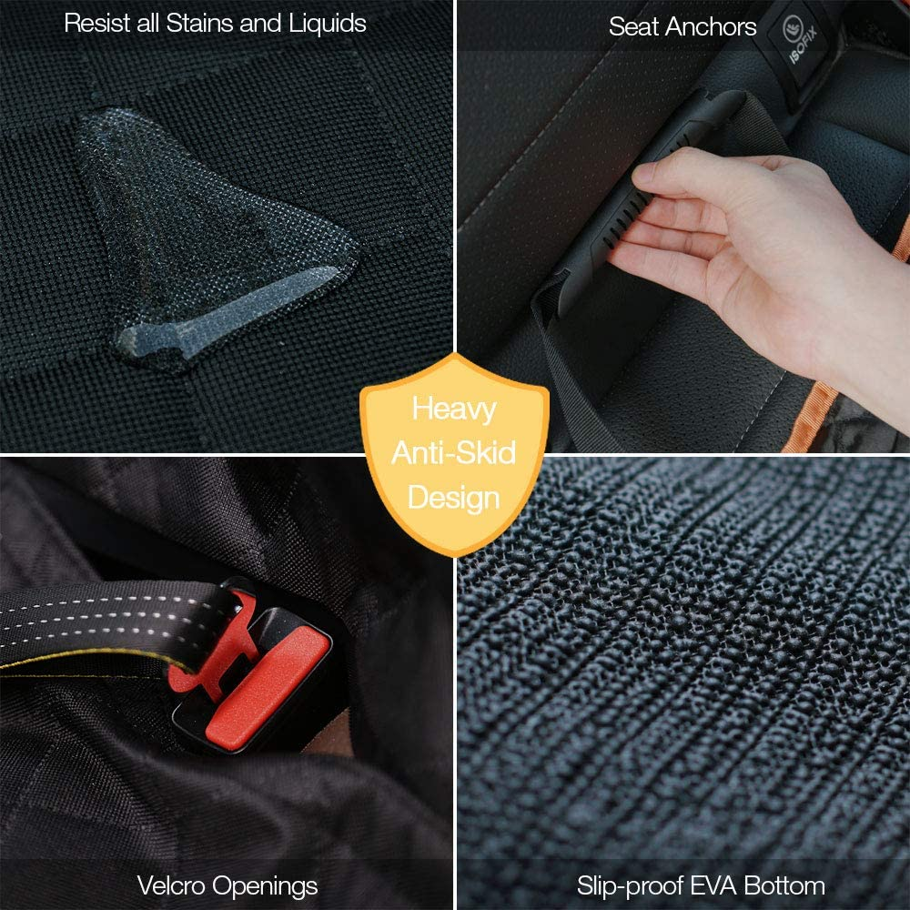 iBuddy Waterproof Dog Car Seat Covers with Mesh Window for Cars/SUVs/Small Trucks