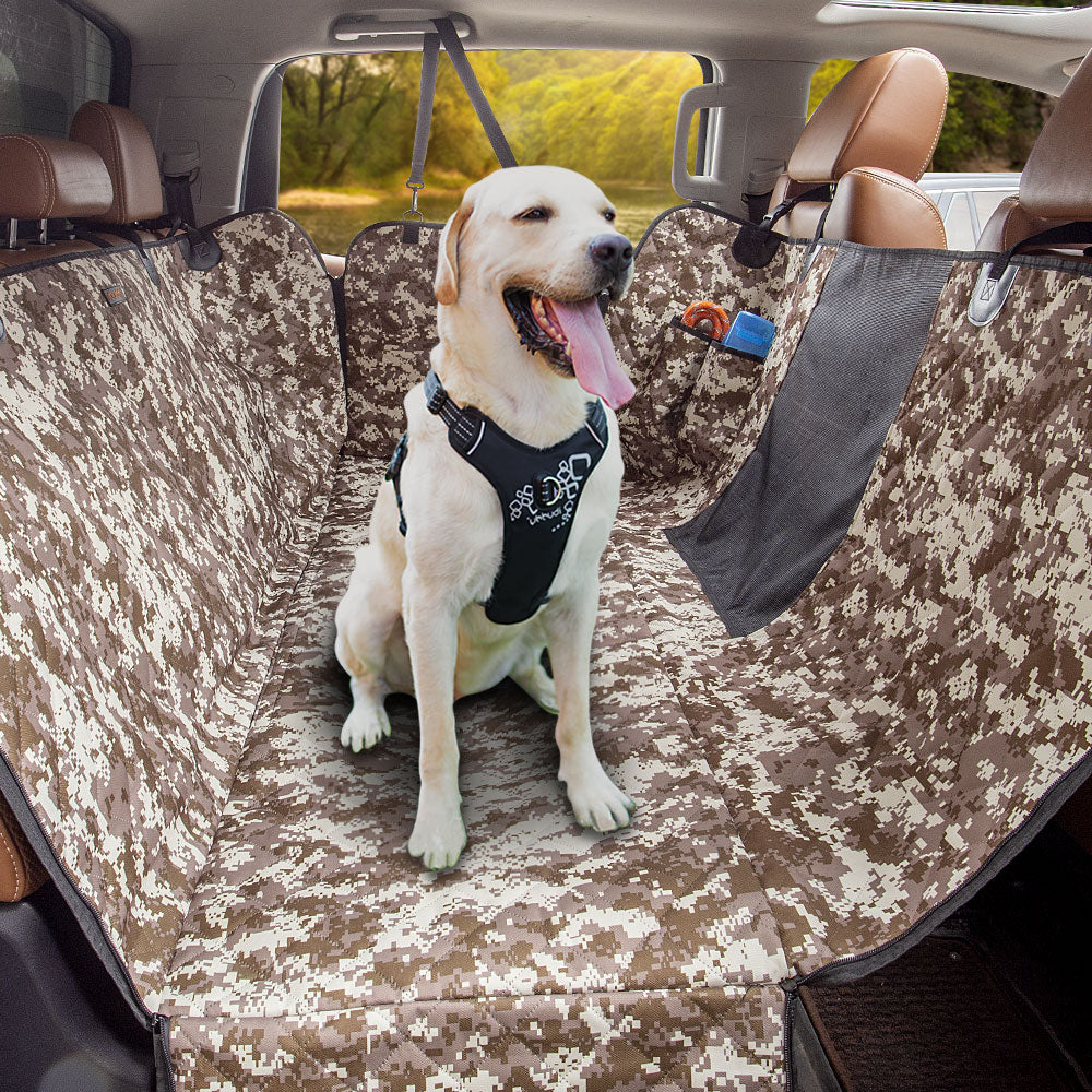 iBuddy Waterproof Dog Car Seat Covers for Trucks with Mesh Window and Side Flap
