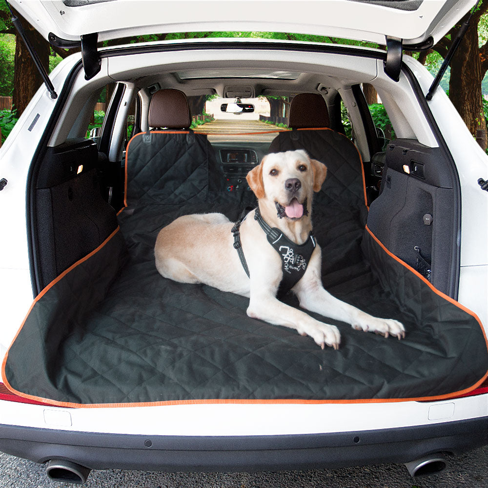 iBuddy Waterproof SUV Cargo Liner for Dogs with Mesh Window for Small/Medium/Large SUVs