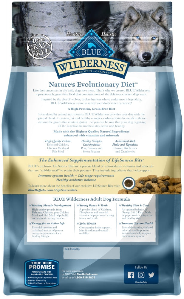 Blue Buffalo Wilderness Grain Free High Protein Chicken Recipe Adult Dry Dog Food
