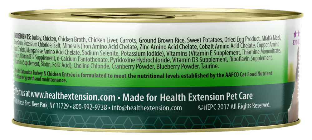 Health Extension Chicken and Turkey Entree Canned Cat Food