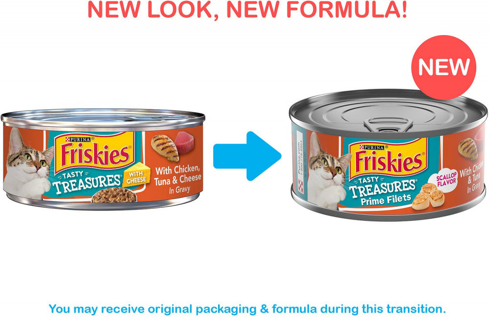 Friskies Tasty Treasures Gravy Chicken, Tuna & Scallop Wet Cat Food