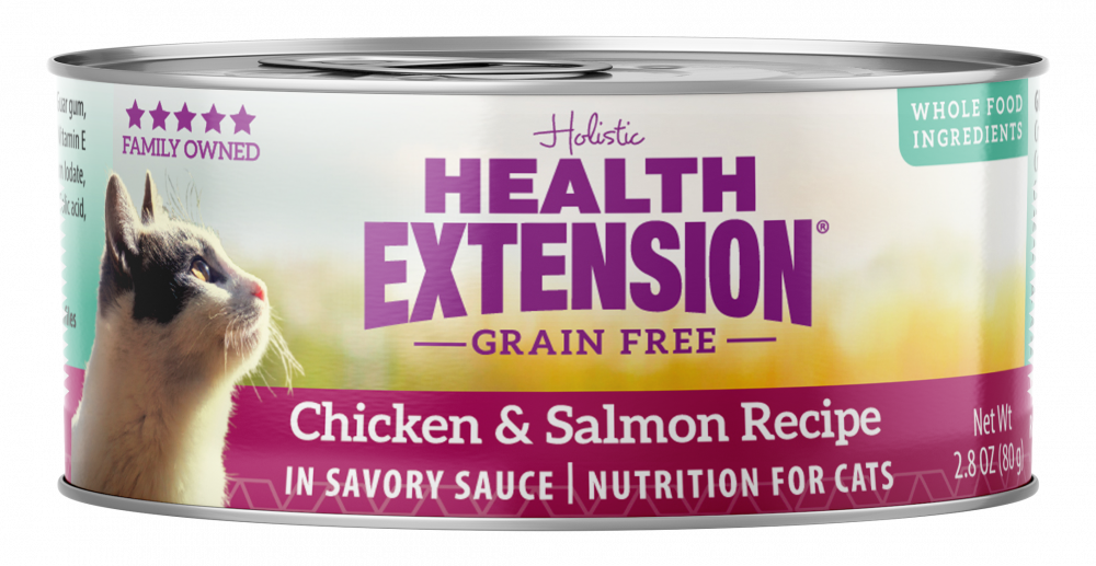 Health Extension Grain Free Chicken and Salmon Recipe Canned Cat Food