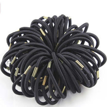 Load image into Gallery viewer, Black Hair Rope Ponytail Holder