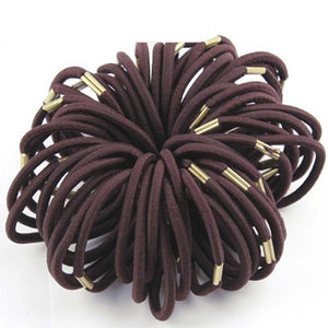 Black Hair Rope Ponytail Holder