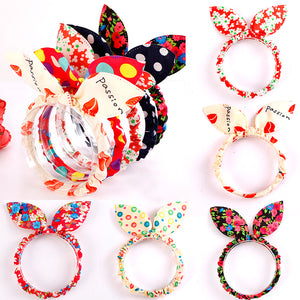 Dot Flower Leopard Hair Rope