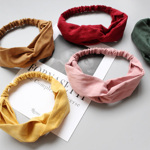 Headbands Vintage Cross Knot