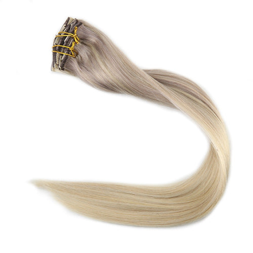 100% Remy Human Hair Clip Extensions