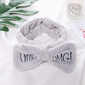 """OMG"" Coral Fleece Soft Bow"