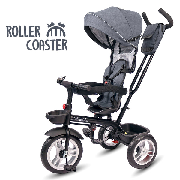 Refurbished - Roller Coaster - Premium Tricycle with Canopy and Push Bar (Grey)