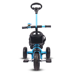 Refurbished - Little Olive Little Toes Baby Tricycle for Kids with Push Bar (Blue)