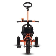 Refurbished - Little Toes Baby Tricycle for Kids with Push Bar (Orange)