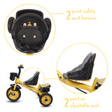 Refurbished - Little Olive Bugs Bunny Baby Tricycle for Kids, 1-4 Years (Yellow)