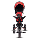 Roller Coaster - Premium Tricycle with Canopy and Push Bar (Red & Black)