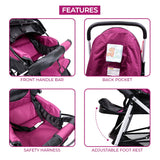 Tweety Reversible Stroller and Pram with Singing Food Tray (Wine Colour)