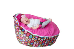 Smart Baby Bean Bag | Pink Polka Dotted