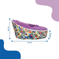Smart Baby Bean Bag | Purple Print