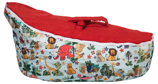 Baby Bean Bag | Red Jungle Animals