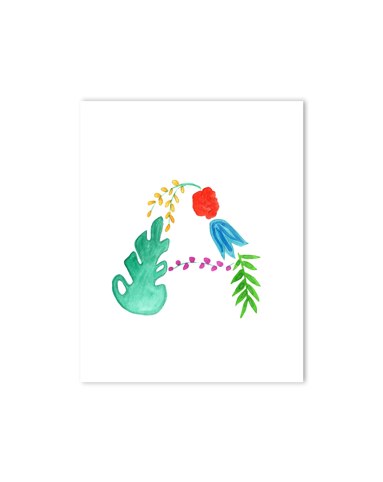 Tropical A Letter Print