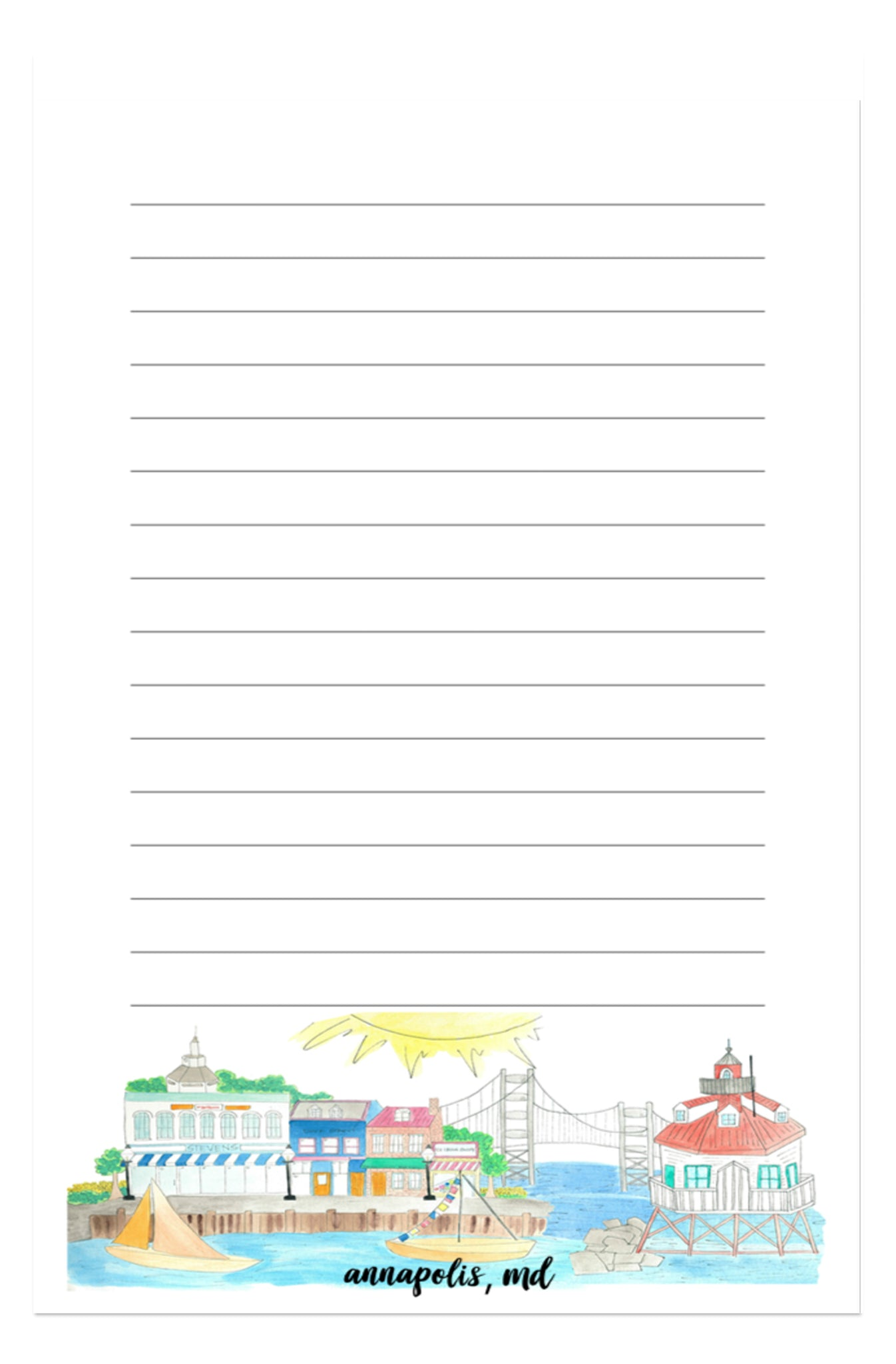 Annapolis, MD Notepad