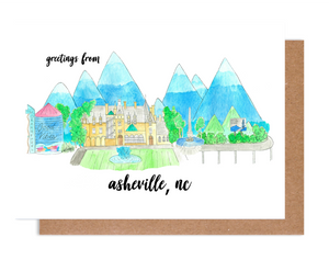 Greetings from Asheville, NC Card