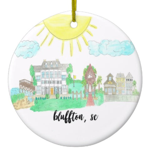Souvenir Beach Ornament Bluffton