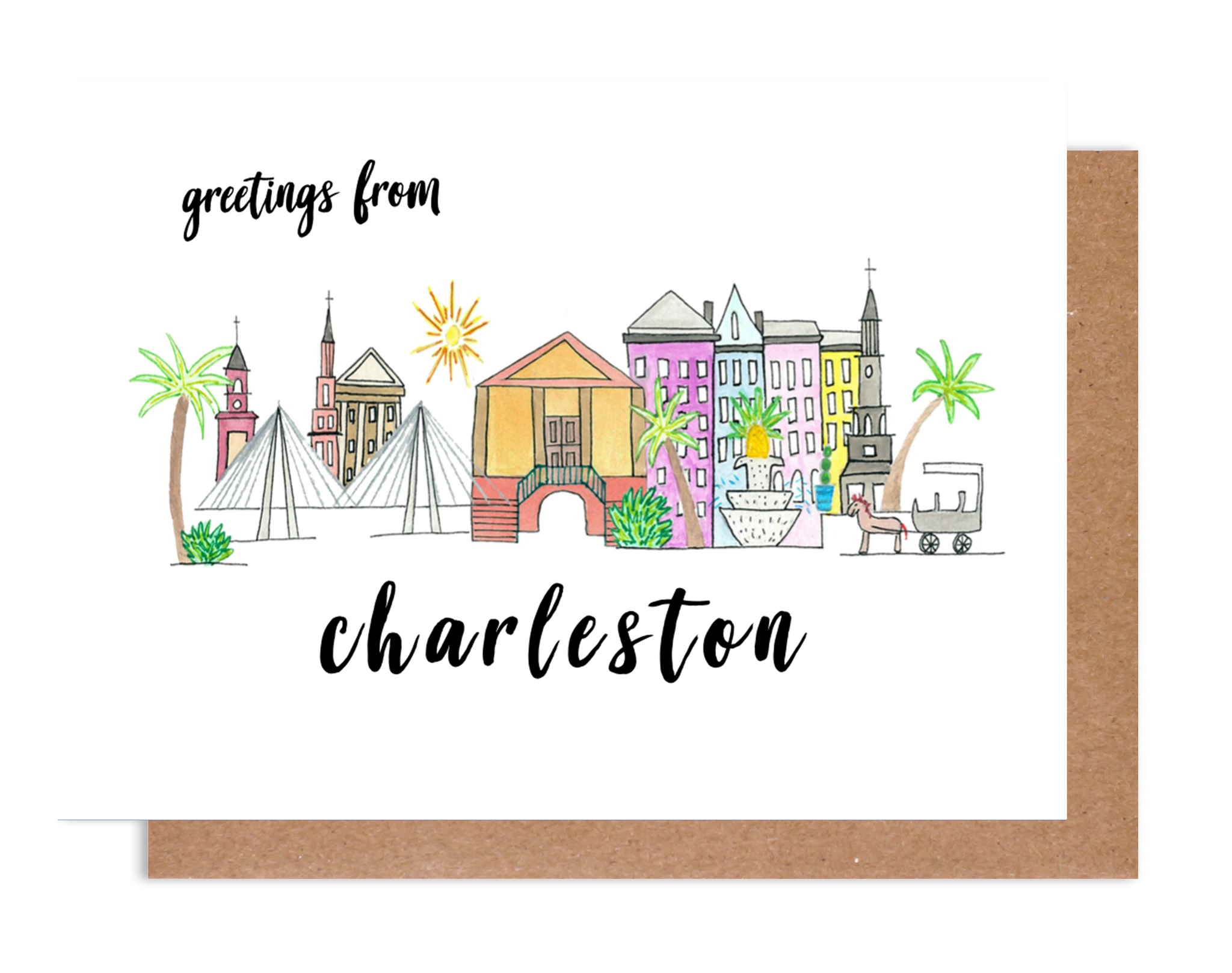 Greetings from Charleston Card