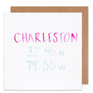 charleston coordinate card