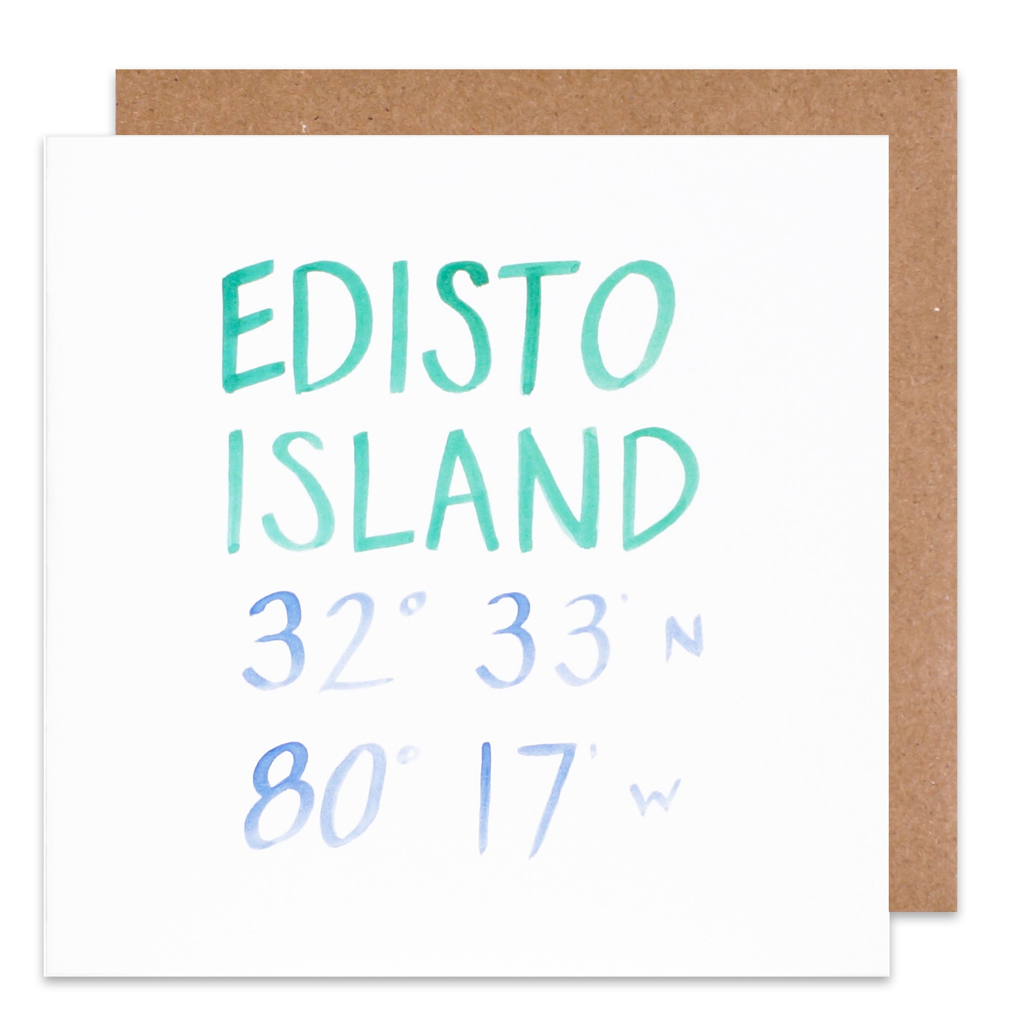 edisto island south carolina coordinate card