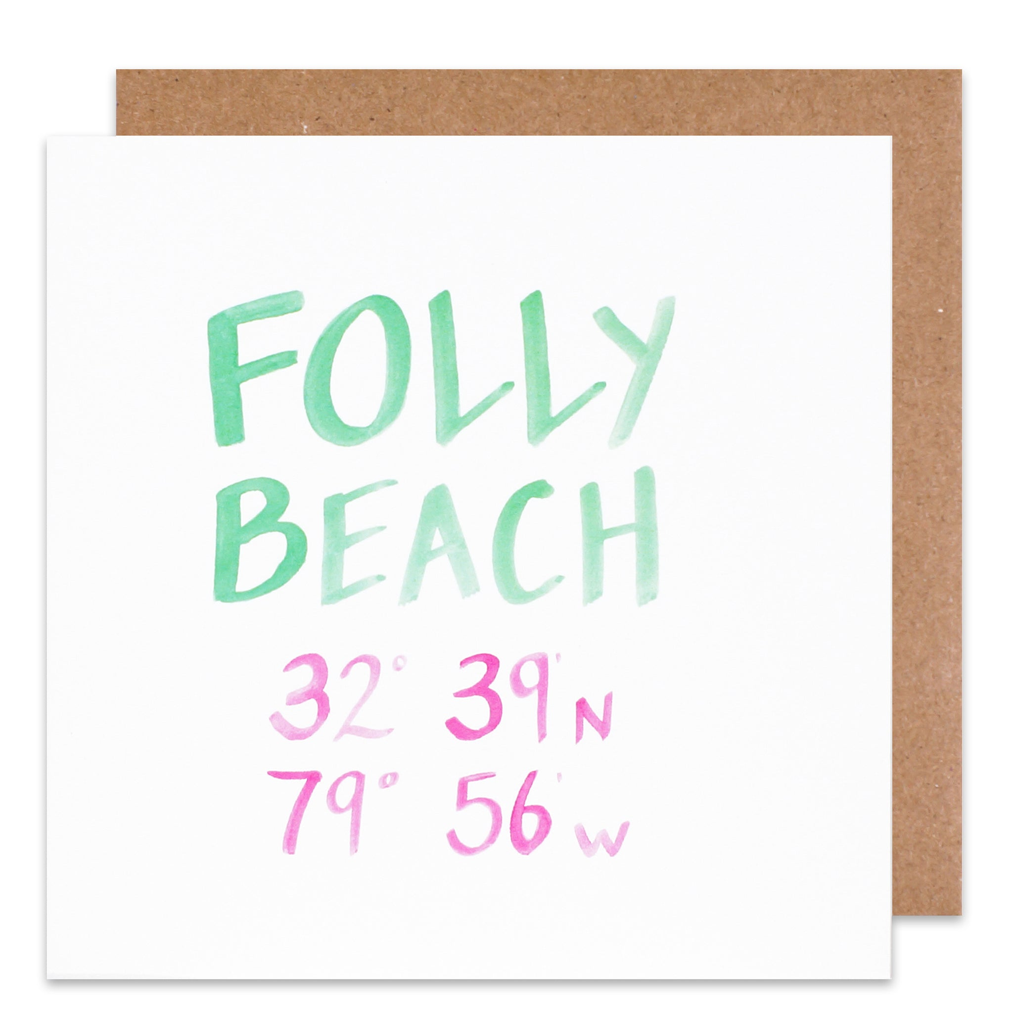 folly beach coordinate card