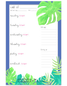 social media planner notepad