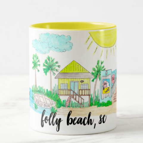 Folly Beach, SC Coffee Mug