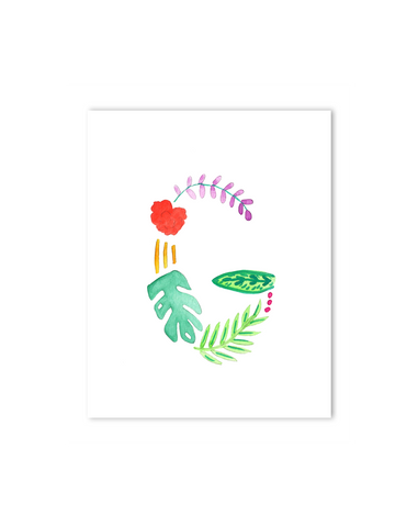 Tropical G Letter Print